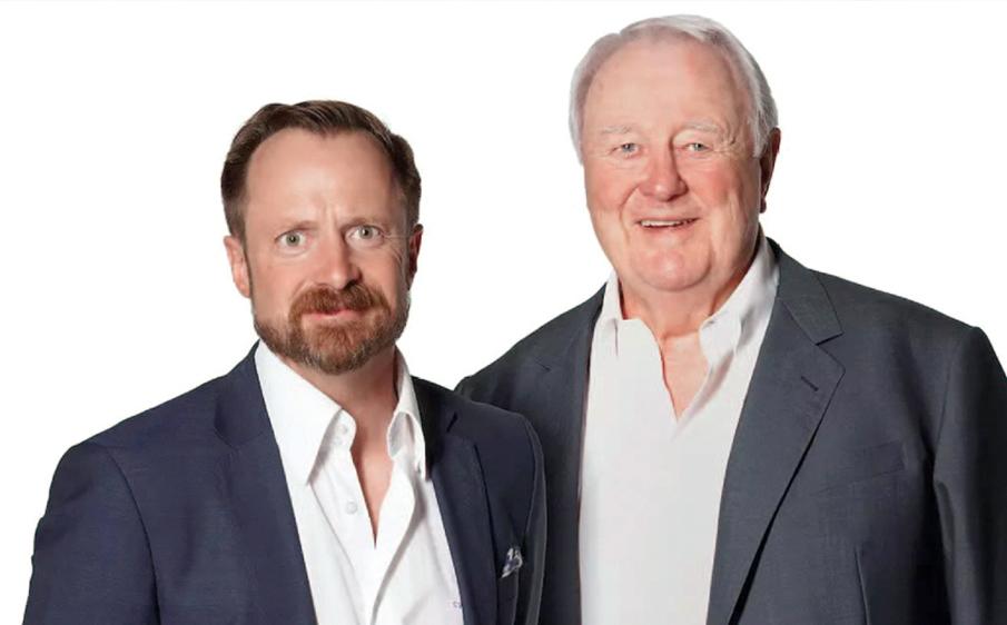 出版事業を引き継いだChristian W. Haase氏(左)とDr. H. W. Haase。(C) Quintessenz