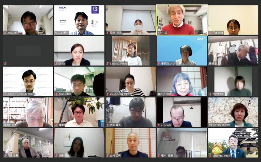 5名の関係者によって女川町の歯科保健医療活動における10年が語られた。