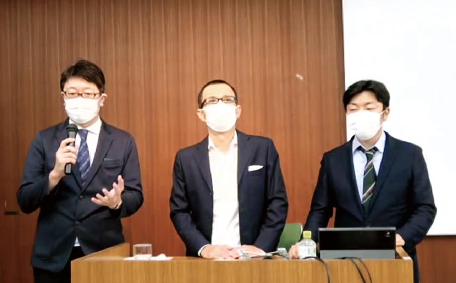 左から中村俊雄氏、吉田健二氏、寺嶋宏曜氏。