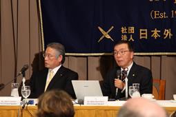 (公社)日本外国特派員協会、プロフェッショナルランチョンを開催
