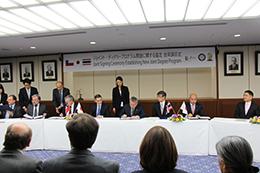 東京医科歯科大学、国際共同学位(ジョイント・ディグリー)プログラム協定締結の合同調印式を開催
