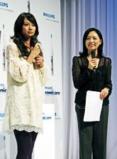 「ソニッケアー 新商品発売記念イベント」ならびに「『歯ヂカラ』称号 授与式」が開催