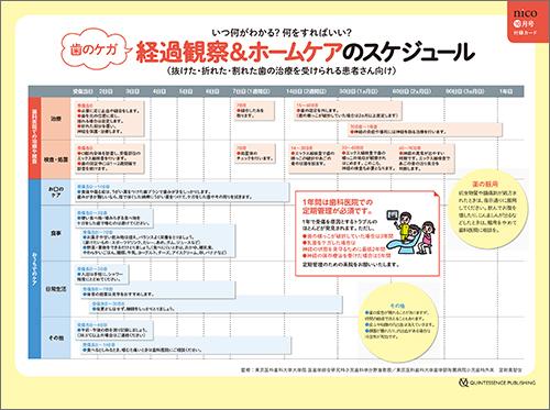 2017年10月号 「子どもの歯のケガ経過観察&ホームケアリストシート」