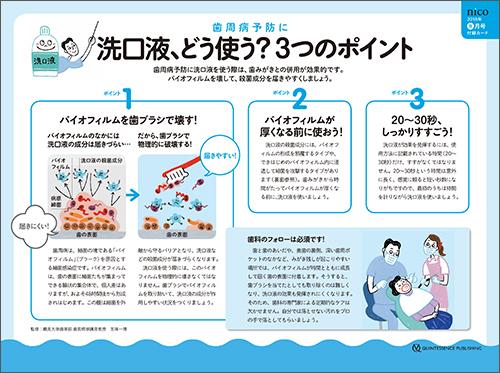 2018年9月号 「歯周病予防に! 洗口液の使い方アドバイスカード」