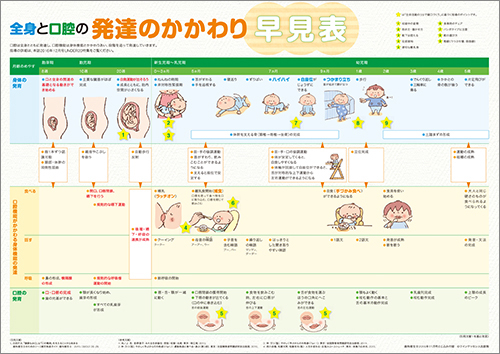 2016年11月号未就学児対応:全身と口腔の発達のかかわり早見表