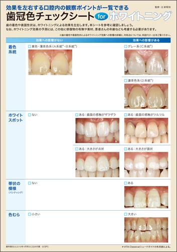 2019年4月号歯冠色チェックシートfor ホワイトニング