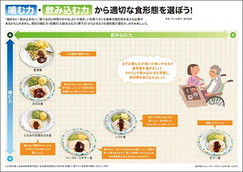 2019年11月号ご家族や多職種への説明に使える食形態選定お助けシート