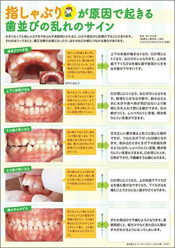 2019年12月号吸指癖の口腔への影響お伝えシート